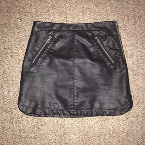 Urban Outfitters Silence + Noise Leather Skirt